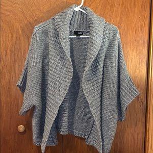 Ana, XL silver/gray cardigan